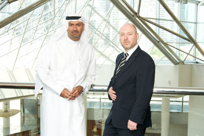 Nabil Al Yousuf, DotBrand Solutions' MENA Local Partner, and Ben Crawford, CEO CentralNic and DotBrand Solutions